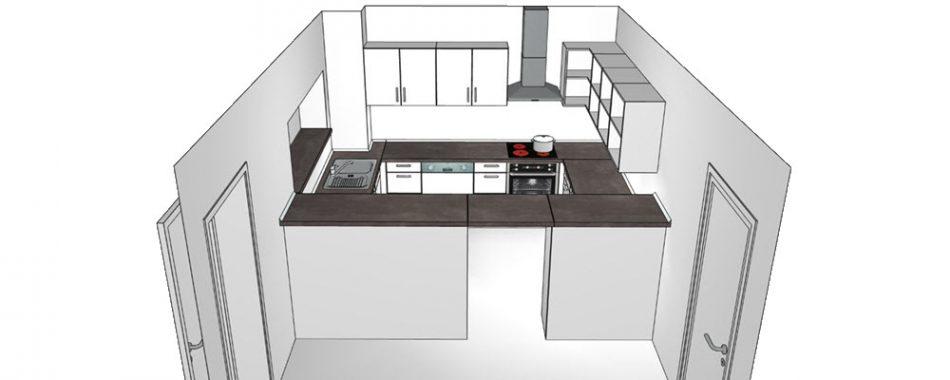 FCR Clubheim - Frontansicht der neuen Küche