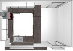 FCR Clubheim - Die neue Küche von oben