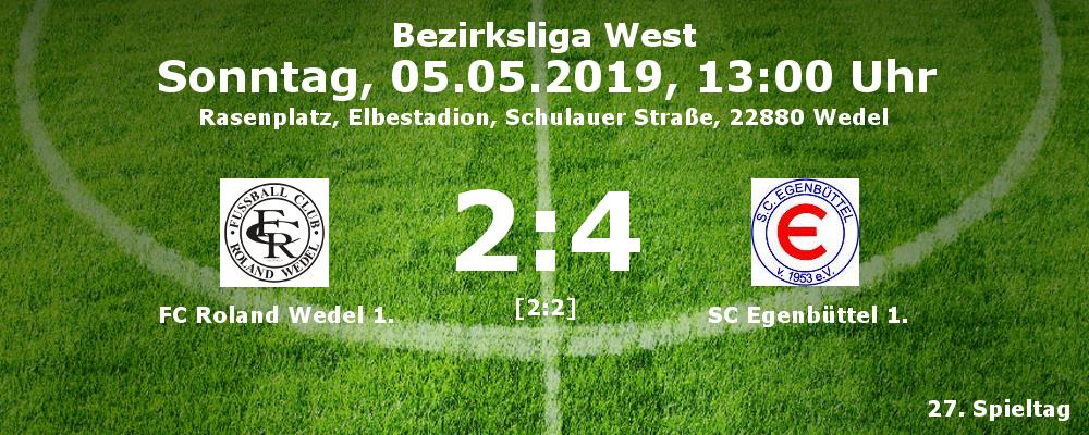Roland Wedel 1. - SC Egenbüttel 1. am 05.05.2019