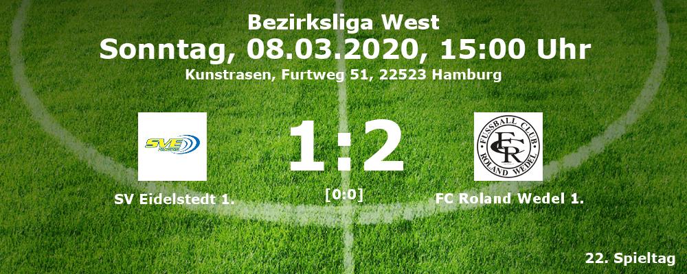 Liga 2019-20 SV Eidelstedt 1. - FC Roland Wedel 1. 1:2 (0:0) am 08.03.2020