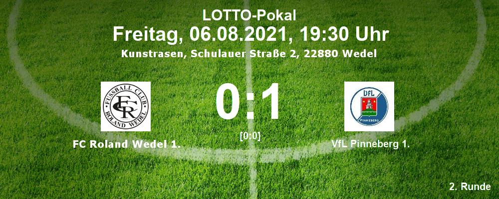Lotto-Pokal 2021/22, 2. Runde: FC Roland Wedel 1. - VfL Pinneberg 1. 0:1 [0:0]