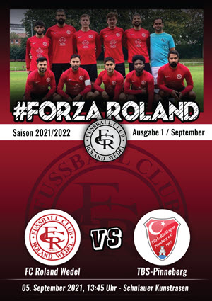 Stadionzeitung FORZA Roland, Saison 2021/22, Ausgabe 01
